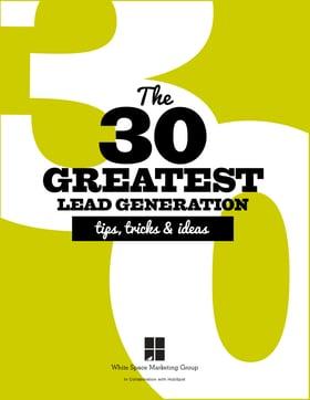 cover-30 Greatest Lead Gen Tips Tricks & Ideas